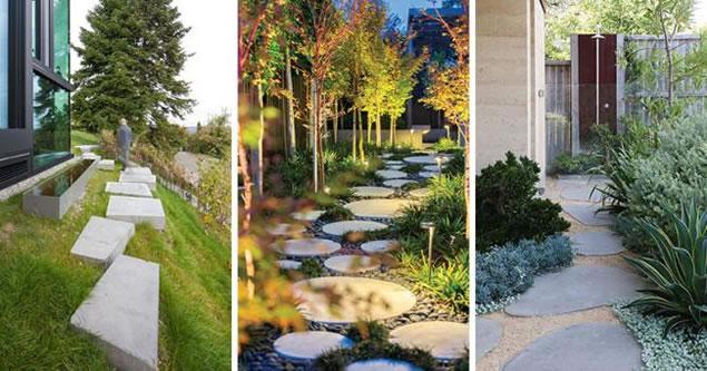 易兰德花园教你如何用踏脚石铺装装饰花园景观