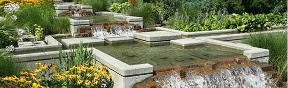 易兰德花园系统之庭院叠水设计